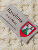 Hawkins Clan Aran Throw - Label