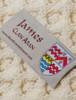 James Clan Aran Throw - Label