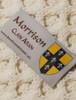 Morrison Clan Aran Throw - Label