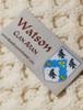 Watson Clan Aran Throw - Label