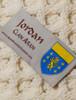 Jordan Clan Aran Throw - Label
