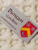 Duncan Clan Aran Throw - Label