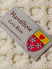 Hamilton Clan Aran Throw - Label