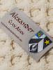 Alexander Clan Aran Throw - Label