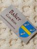 Baker Clan Aran Throw - Label