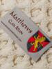 Matthews Clan Aran Throw - Label