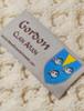 Gordon Clan Aran Throw - Label