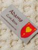 Adams Clan Aran Throw - Label