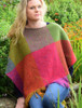 Handwoven Ladies Tweed Fringed Poncho - Carnival