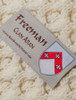 Freeman Clan Aran Throw - Label