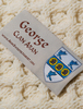 George Clan Aran Throw - Label