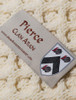 Pierce Clan Aran Throw - Label