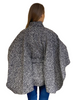 Luxury Belted Wool Tweed Cape - Black & White