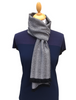 Ross Super-Soft Merino Scarf - Black & White