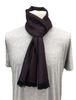 Ross Super-Soft Merino Scarf - Black & Wine