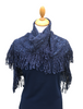 Looped Fringed Scarf Navy Mix