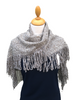 Looped Fringed Scarf Blue Mix
