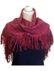 Looped Fringed Scarf Crimson Mix