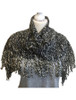 Looped Fringed Scarf Black Mix