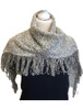 Looped Fringed Scarf Snowflake Mix