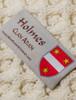 Holmes Clan Aran Throw - Label
