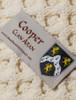 Cooper Clan Aran Poncho - Label