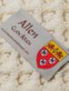 Allen Clan Aran Poncho - Label