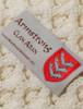 Armstrong Clan Aran Poncho - Label