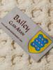Bailey Clan Aran Poncho - Label