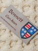 Bennett Clan Aran Poncho - Label