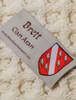 Brett Clan Aran Poncho - Label