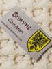 Browne Clan Aran Poncho - Label