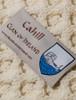 Cahill Clan Aran Poncho - Label