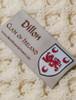 Dillon Clan Aran Poncho - Label