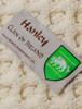 Hanley Clan Aran Poncho - Label