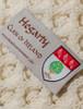 Hegarty Clan Aran Poncho - Label