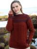 Women's Merino Fair Isle Sweater With Pockets - Sienna
