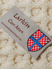 Larkin Clan Aran Poncho - Label