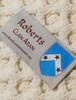 Roberts Clan Aran Poncho - Label