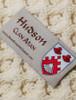 Hudson Clan Aran Poncho - Label