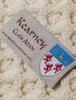 Kearney Clan Aran Poncho - Label