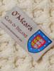 O'Meara Clan Aran Poncho - Label