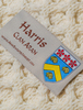 Harris Clan Aran Poncho - Label