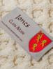 Jones Clan Aran Poncho - Label