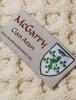 Mc Garry Clan Aran Poncho - Label