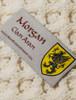 Morgan Clan Aran Poncho - Label