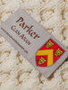 Parker Clan Aran Poncho - Label