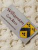 Williamson Clan Aran Poncho - Label