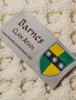 Barnes Clan Aran Throw - Label
