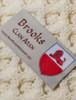 Brooks Clan Aran Poncho - Label